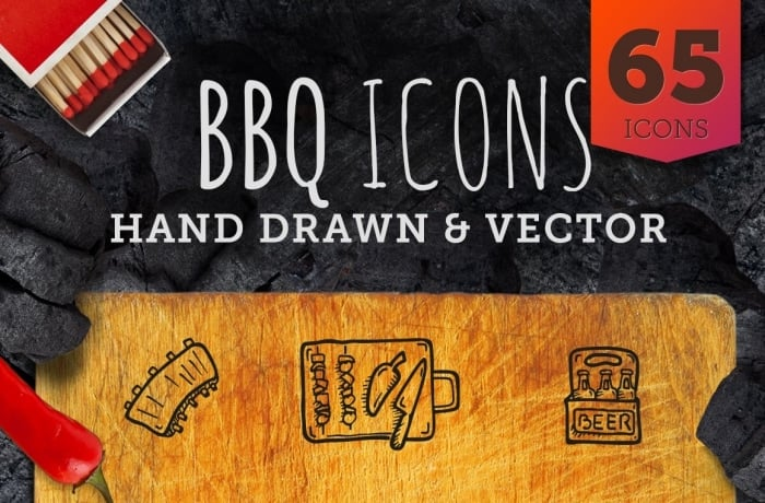 BBQ Icons - Hand Drawn Icons - cover