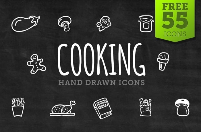 Free Cooking Icons - Hand Drawn Icons - cover