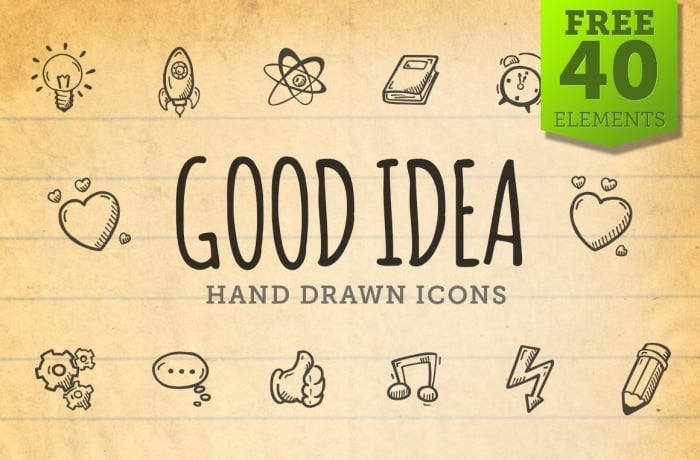 Free Good Idea Icons - Hand Drawn Icons - cover