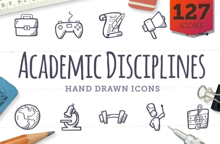 Academic Disciplines Icons - Hand Drawn Icons - Cover