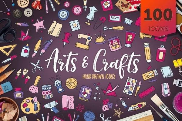Arts & Crafts - Hand Drawn Icons