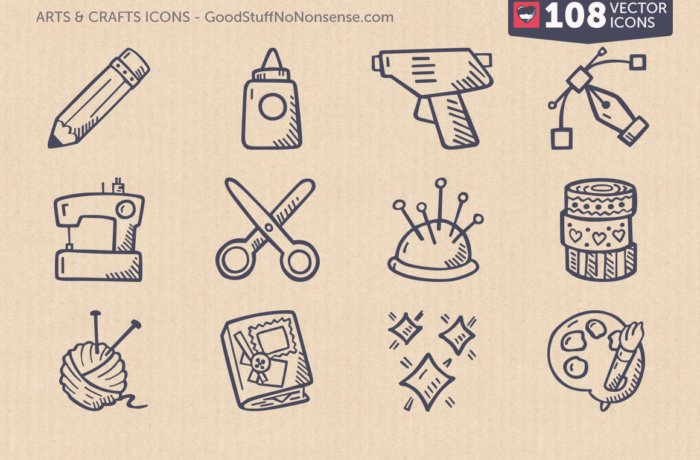 Arts & Crafts Vector Icon Pack