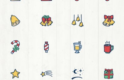 Christmas Icons Vector Premium Clip Art - Hand Drawn Icons