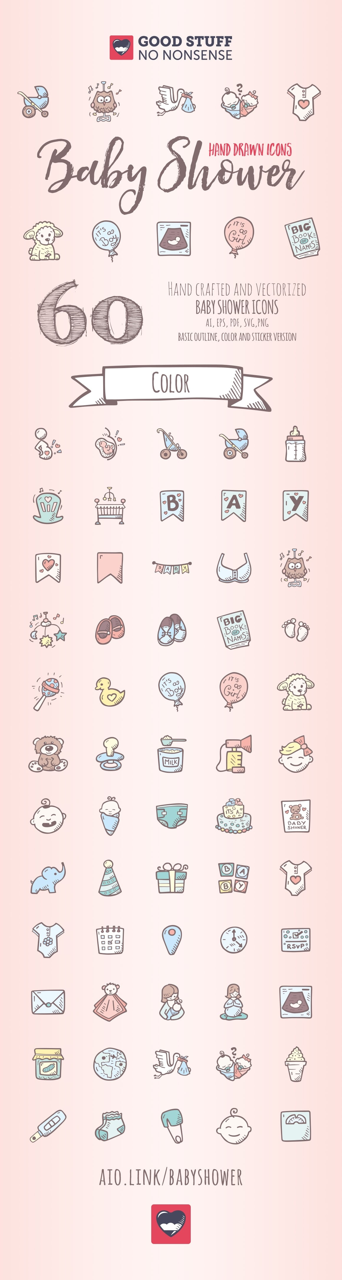 Baby Shower Icons - Good Stuff No Nonsense