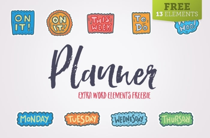 Perfect for creating fun printable planner sticker layouts